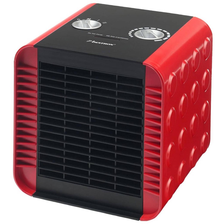 Bestron Keramische ventilatorkachel rood ACH1500R
