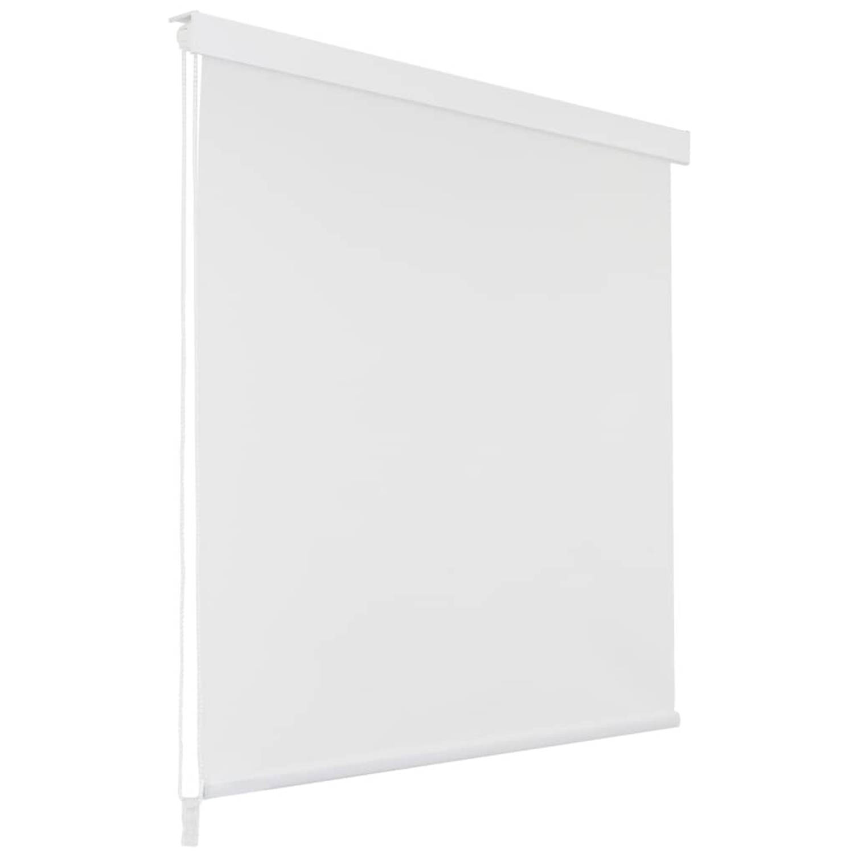 vidaXL Rolgordijn voor douche 120x240 cm wit