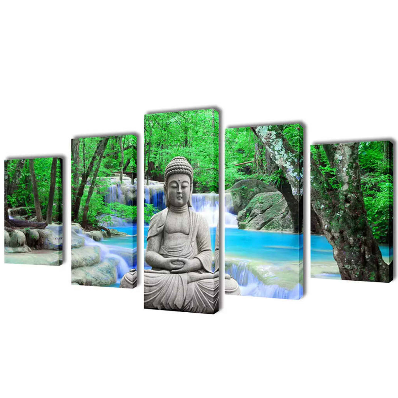 Image of Canvasdoeken Boeddha 200 x 100 cm