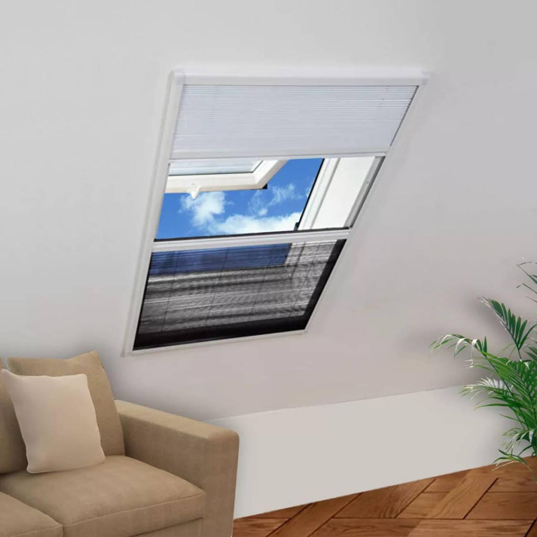 vidaXL Raamhor voor dakramen met zonnescherm plissé 160x80 cm