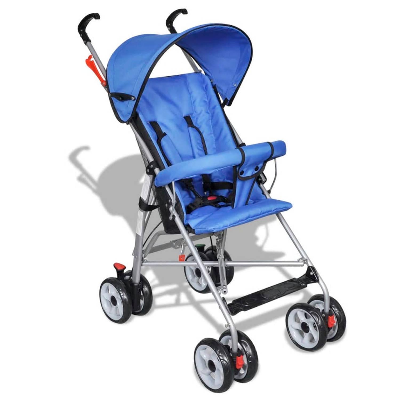 Moderne kinderwagen blauw