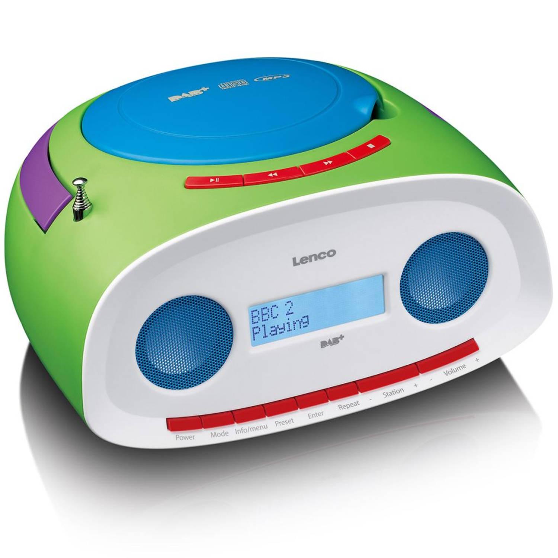 Lenco Draagbare DAB+ radio met CD/MP3-speler SCD-69 groen