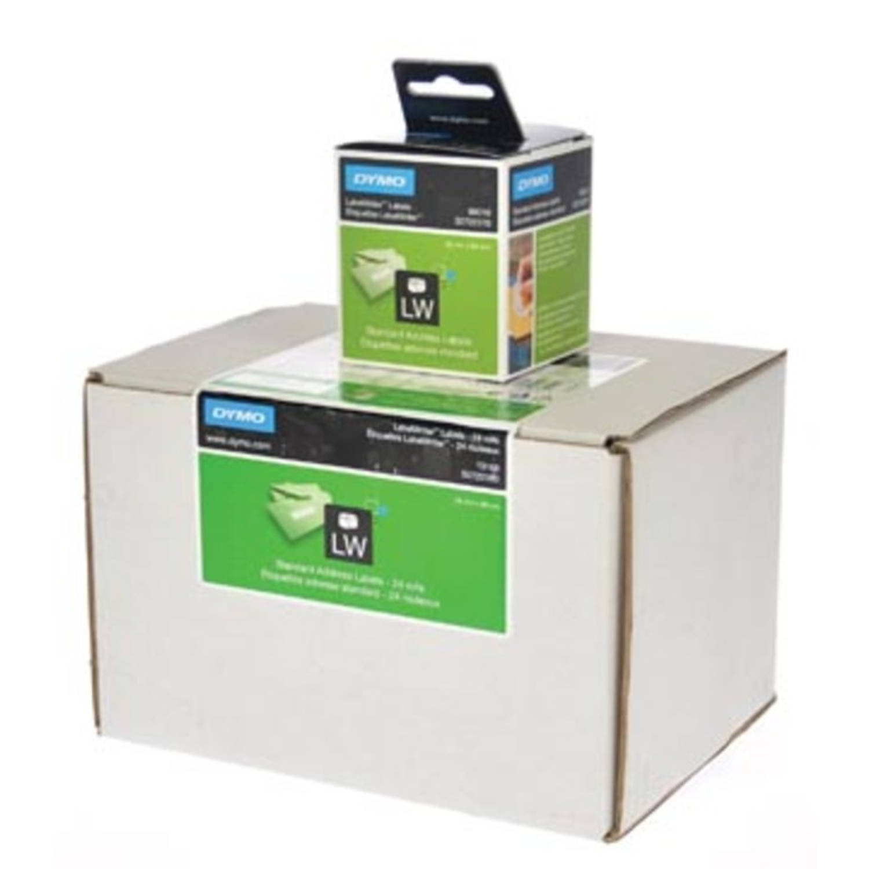 Dymo etiketten LabelWriter ft 89 x 28 mm, wit, 3120 etiketten