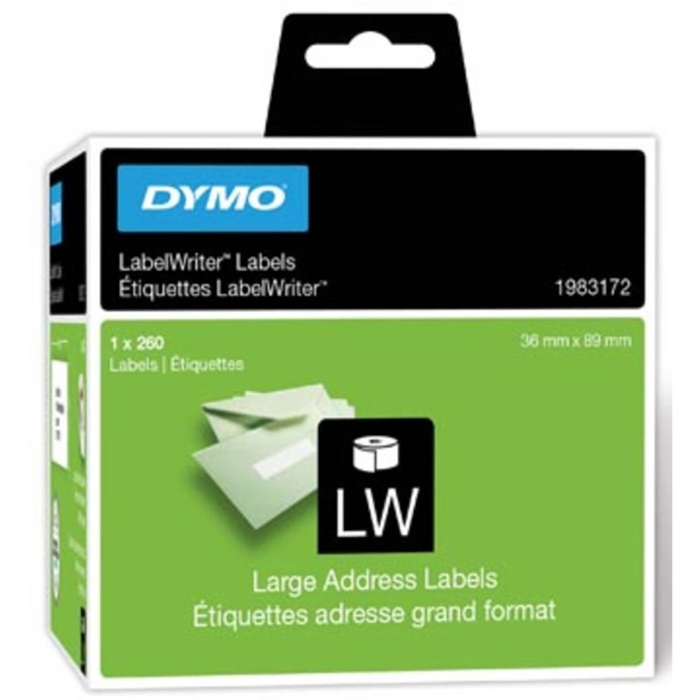 Dymo duurzame etiketten LabelWriter ft 89 x 36 mm, 260 etiketten
