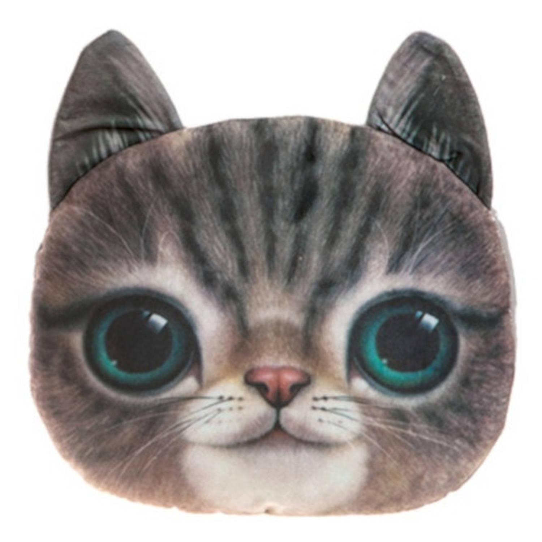 Kamparo kussen kattenkop 37 cm bruin