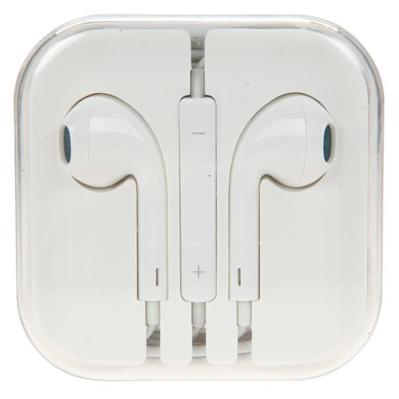 Kamparo oordopjes comfort fit met microfoon en volumeknop wit