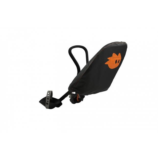 Yepp regenhoes voor fietszitje Yepp Mini zwart/oranje