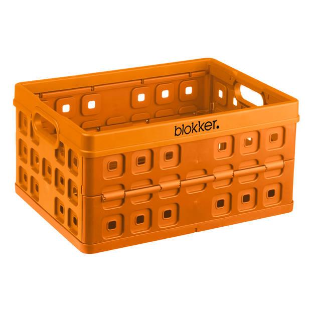 Blokker extra stevige vouwkrat - 32 liter - oranje