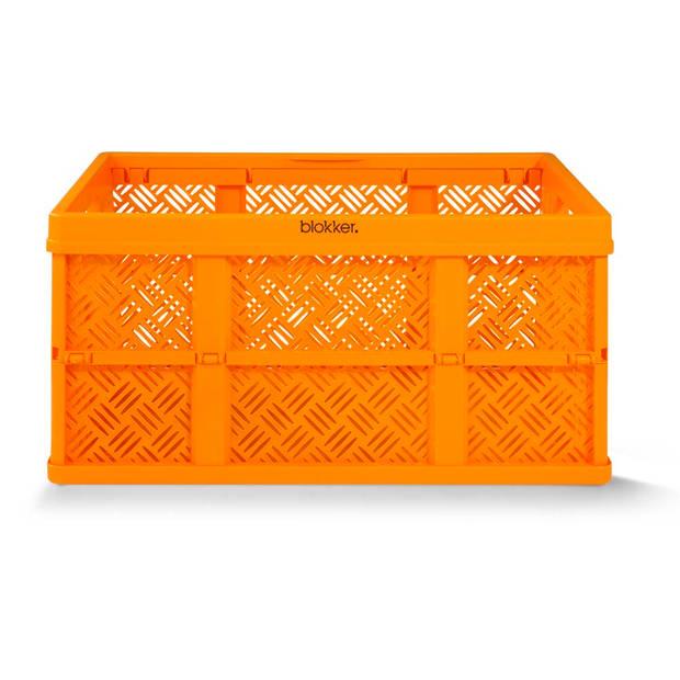 Blokker basic vouwkrat - 32 liter - oranje
