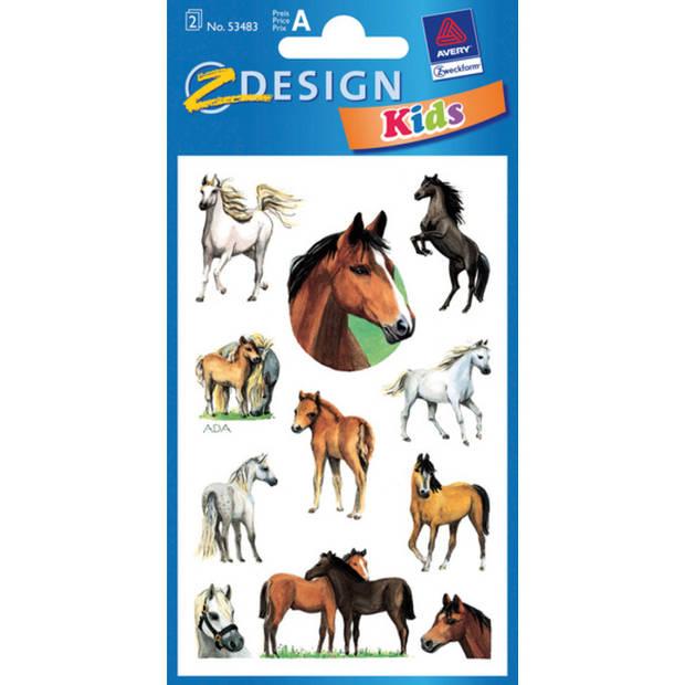 papieretiket Z-design Kids pakje a 2 vel paarden