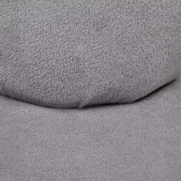 vidaXL Stoel handvormig fluweel grijs