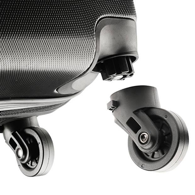 TravelZ - Lichtgewicht ABS koffer - Reiskoffer Trolley 76cm - Gevoerde binnenkant - Zwart