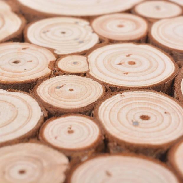 vidaXL Wandtafel 100,5x36,8x75 cm echt hout