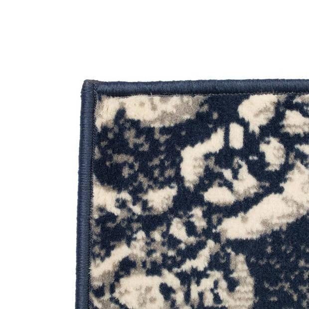 vidaXL Vloerkleed modern paisley ontwerp 140x200 cm beige/blauw