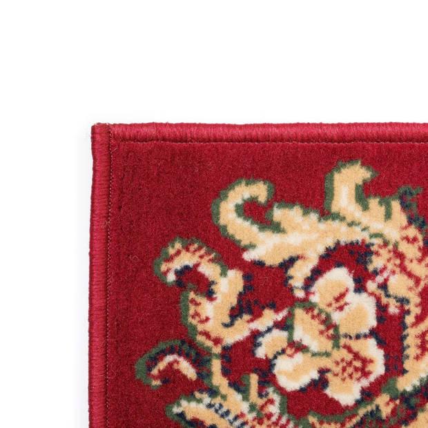 vidaXL Tapijt oosters 80x150 cm rood/beige