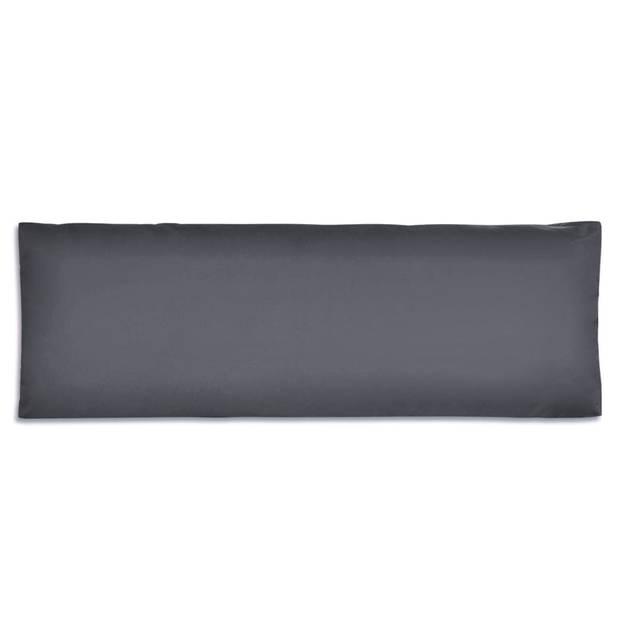 vidaXL Rugkussen 120x40x10 cm gestoffeerd grijs