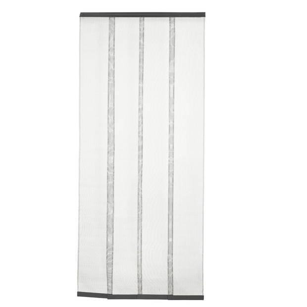Lamellen vliegengordijn - grijs - 100x230cm