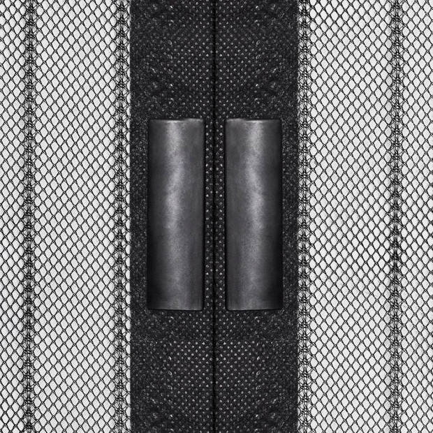 vidaXL Insectendeurgordijnen 2 st magnetisch 210x100 cm zwart