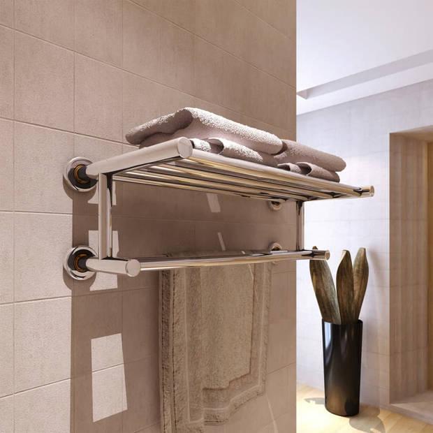 vidaXL Handdoekenrek met 6 roedes roestvrij staal