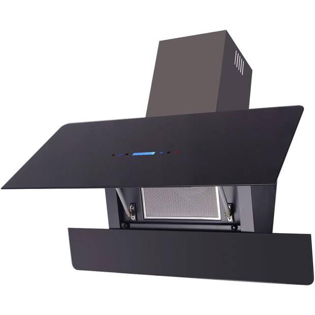 vidaXL Afzuigkap met touch scherm zwart 900 mm