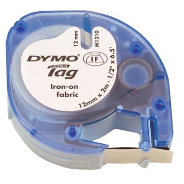 Dymo LetraTAG opstrijkbare tape 12 mm, wit