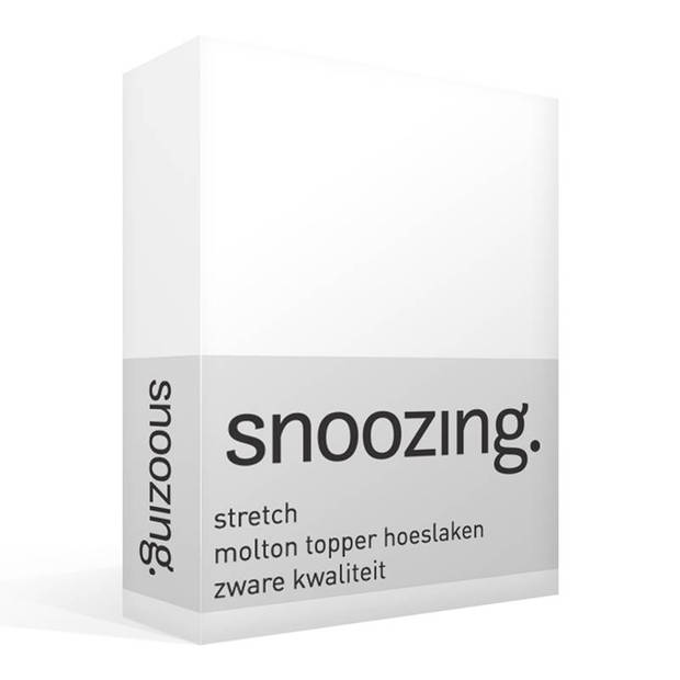 Snoozing - Stretch - Topper - Molton - Hoeslaken - 180x210/220 cm of 200x200 cm - Wit