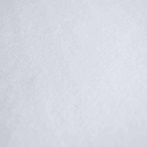 Snoozing katoen molton hoeslaken extra hoog - 100% katoen - Lits-jumeaux (180x200 cm) - Wit
