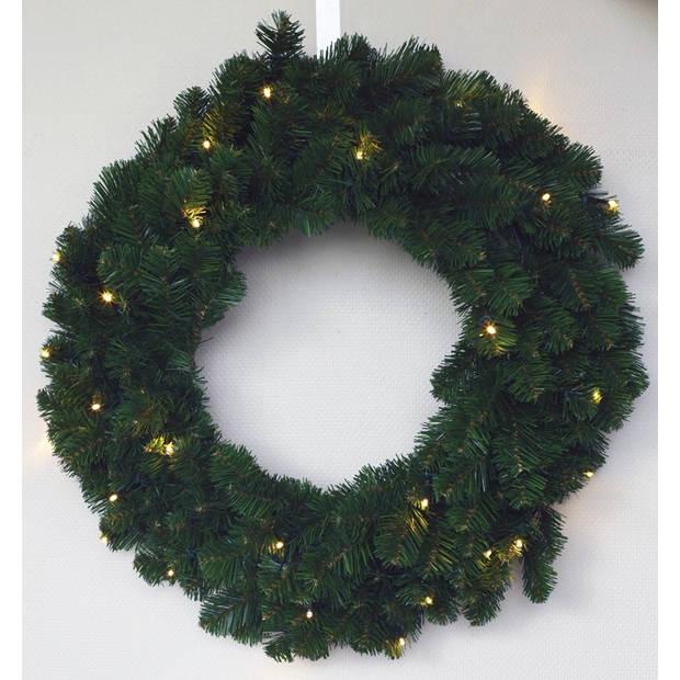 Alaskan Pine krans 60 cm met warm LED