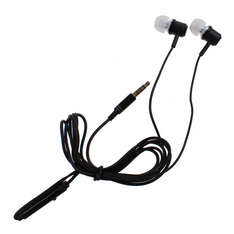 Kamparo in-ear oordopjes met microfoon zwart