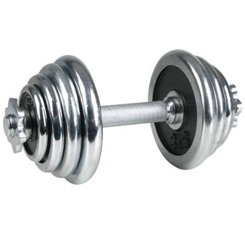 Afbeelding van Avento chromen dumbbell 15 kg 41HD