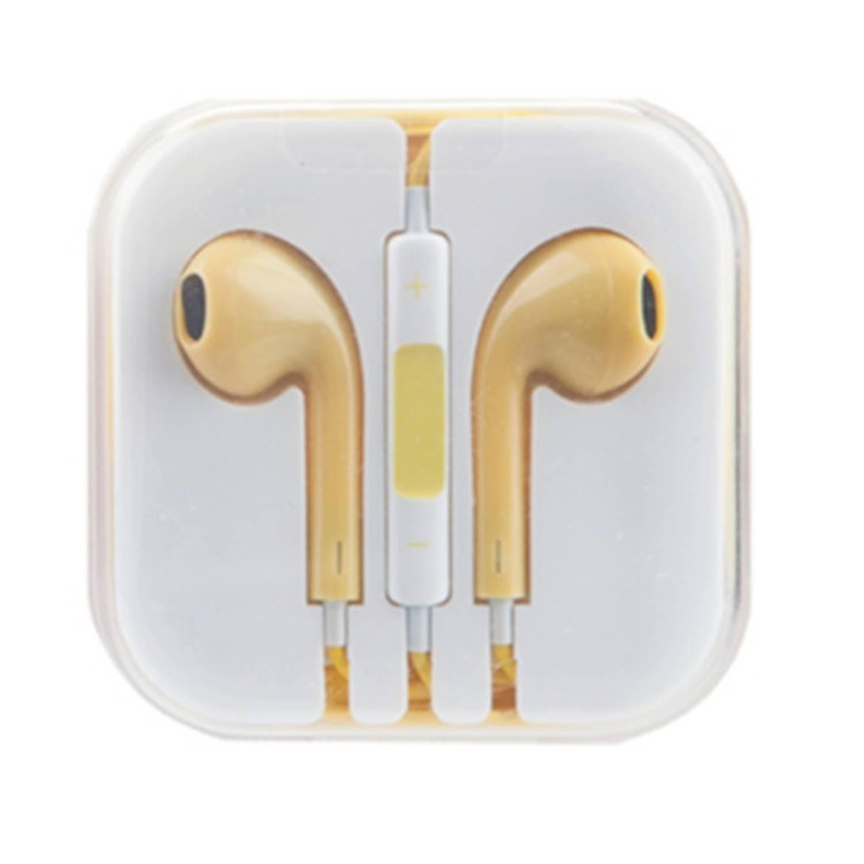 Kamparo oordopjes comfort fit met microfoon en volumeknop geel