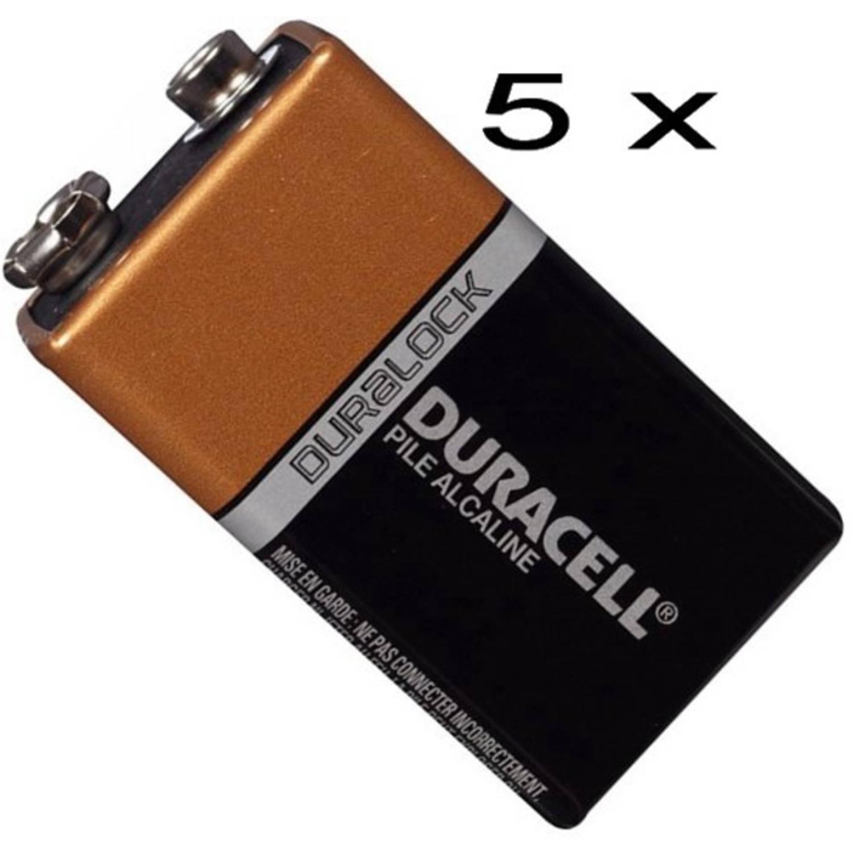 Duracell 9V Alkaline - 5 Stuks
