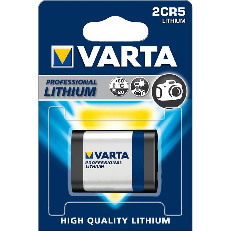 Voordeelpak van 5 x Varta Photo Lithium batterijen 2CR5
