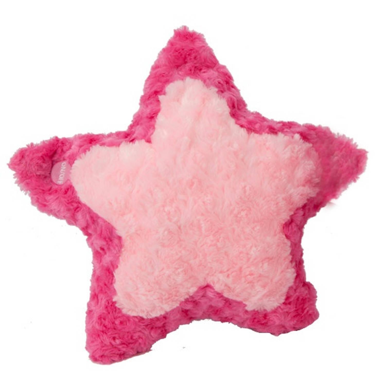 Kamparo kussen ster pluchen roze 23 cm