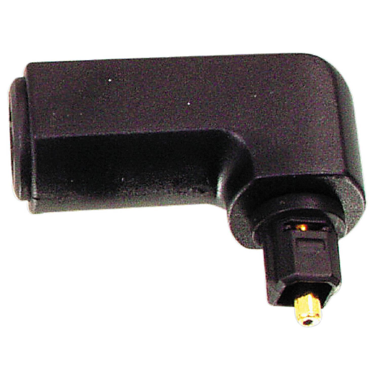 1 stuks valueline toslink adapter 90° haaks toslink male - toslink female zwart