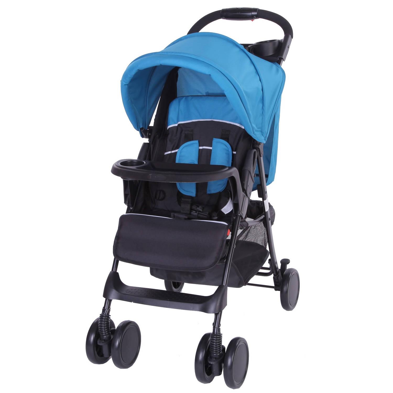 Bebies First Buggy Shopper Zwart-Blauw