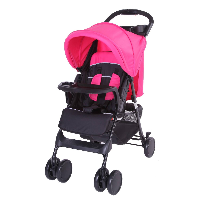 Bebies First Buggy Shopper Zwart-Roze