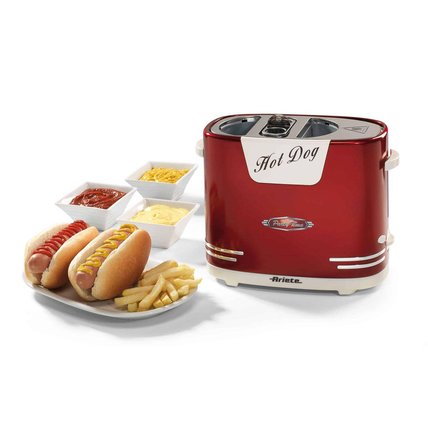 Ariete Hot Dog Pop-Up Machine Party Time Rood