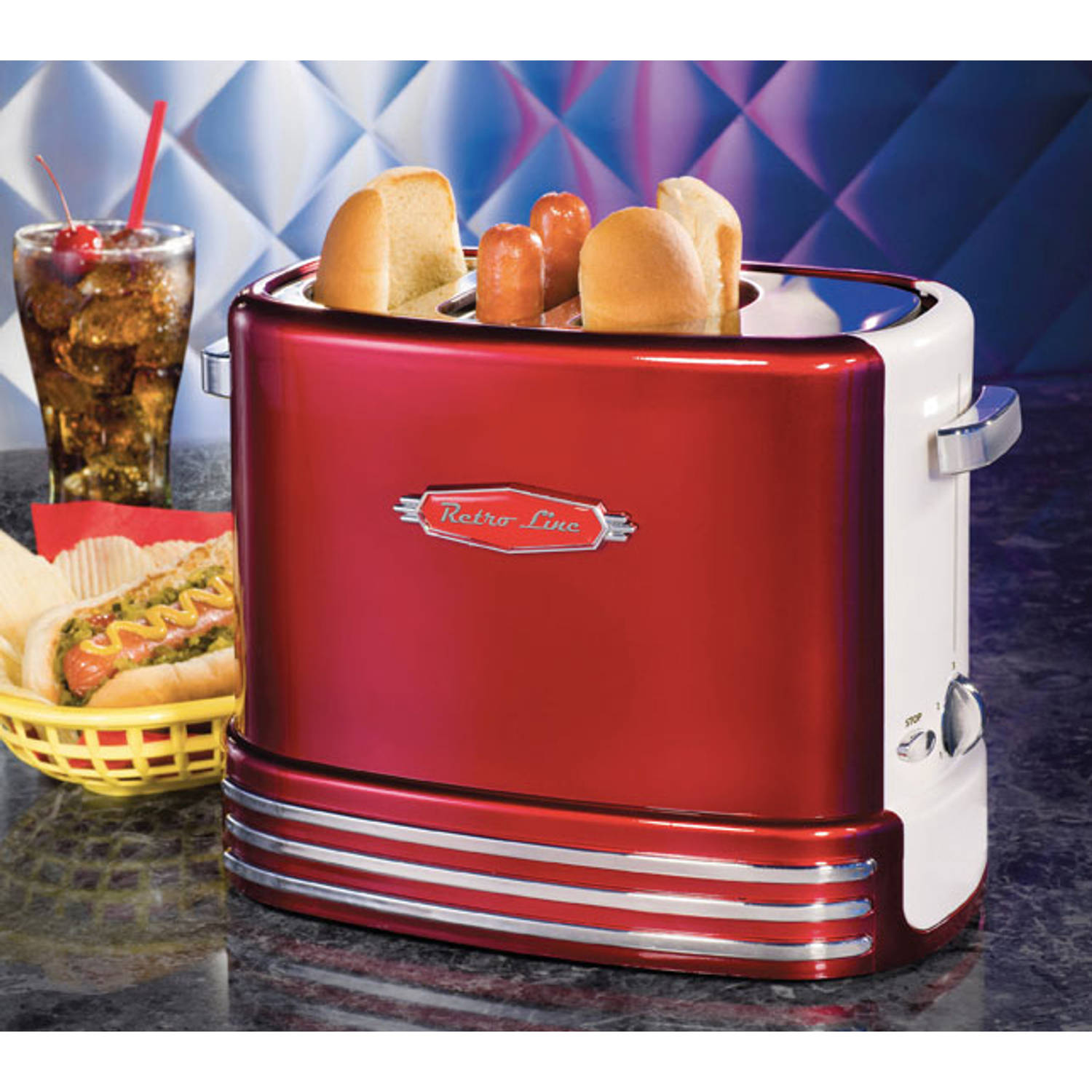 Retro Line Hot Dog Machine Pop-Up Toaster 2