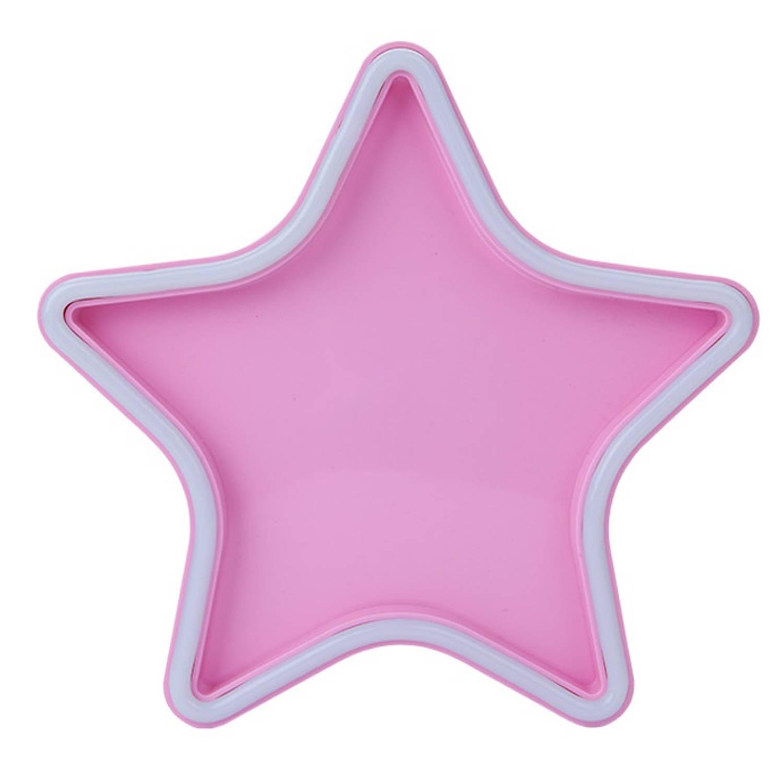Image of Kamparo sterrenlamp neonverlichting roze 25,5 x 25,5 x 4,5 cm
