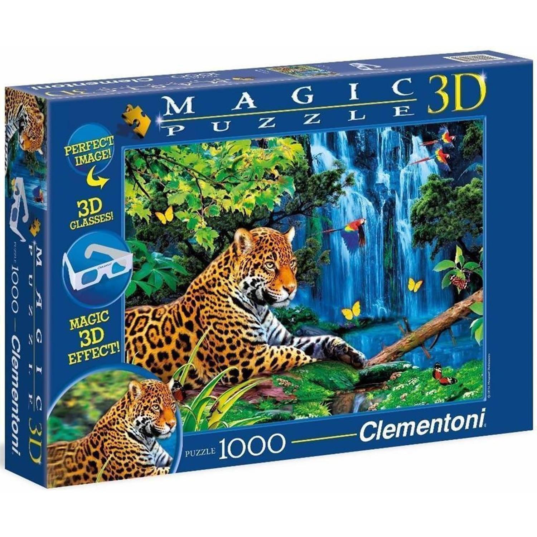 Clementoni legpuzzel 3D jaguar 1000 stukjes