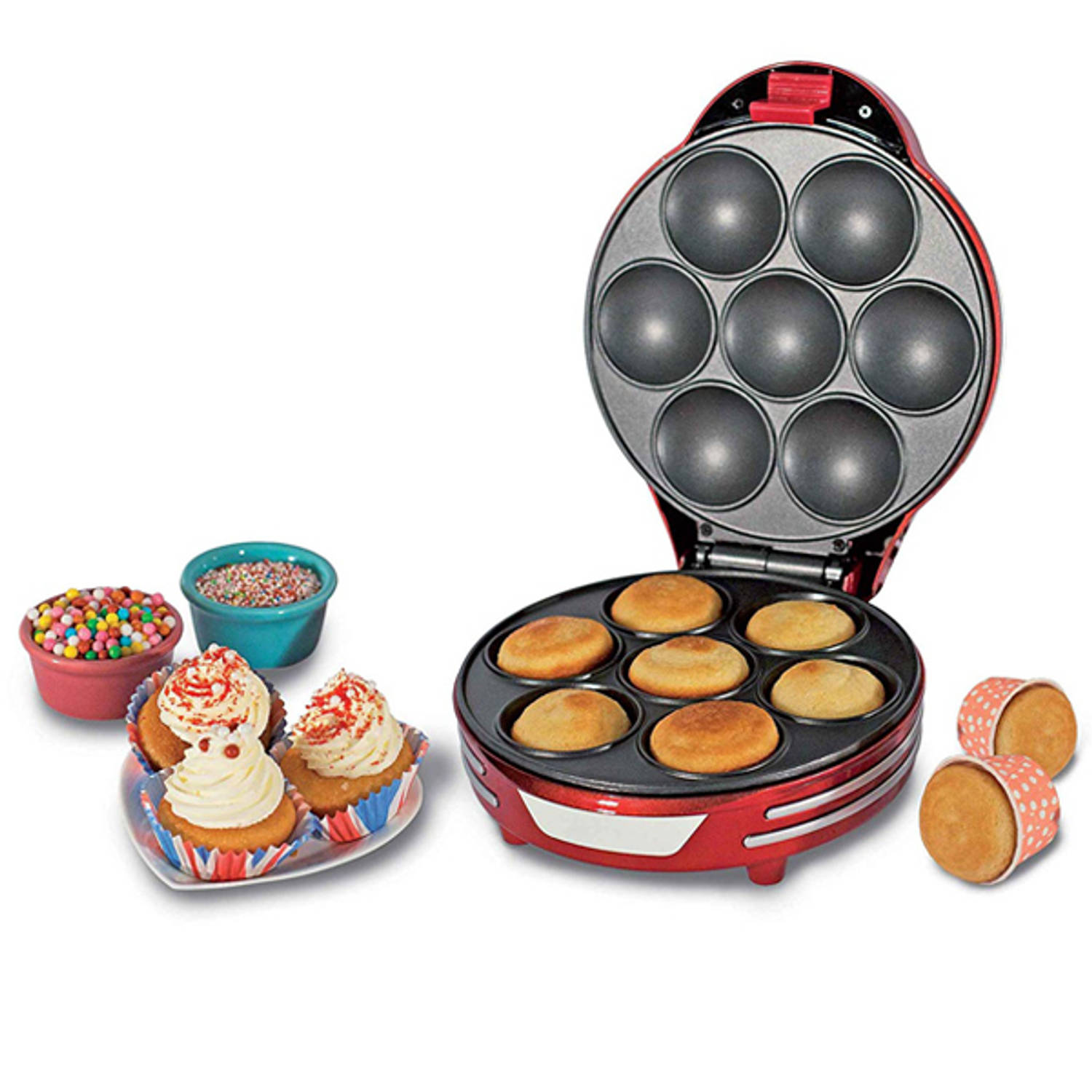 Ariete Retro Muffin & Cupcake Maker Party Time Rood