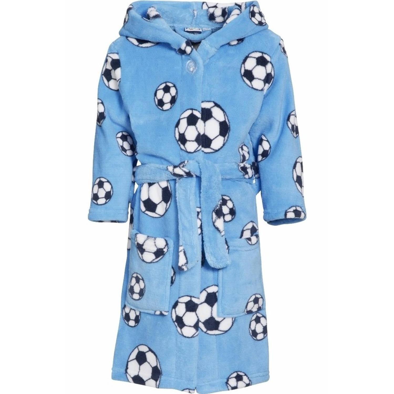 Blauwe badjas voetbal voor jongens 98/104 (4-5 jr)