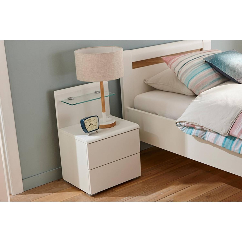 Beter bed Select nachtkast paneel Capri - Spaanplaat gefineerd - Alpine wit