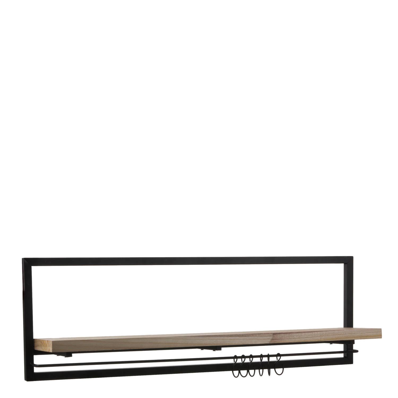 Mica Decorations Oskar wandrek - zwart - 86x18x28 cm