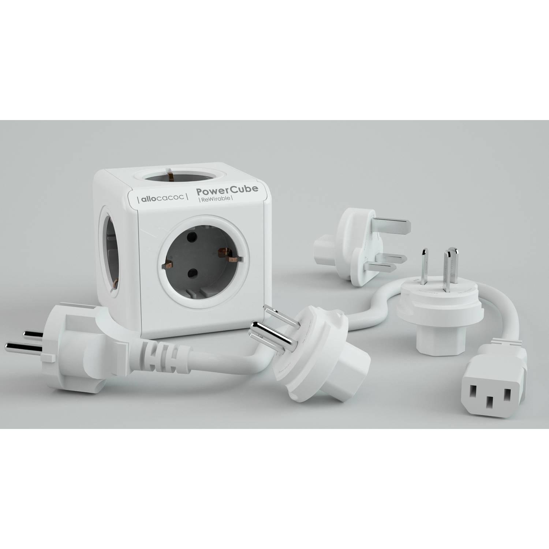 Allocacoc ReWirable grey incl. Travel Plug incl. 1 m Cable