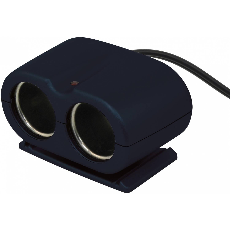Carpoint 2-weg splitter met snoer 300 cm 12/24 Volt zwart