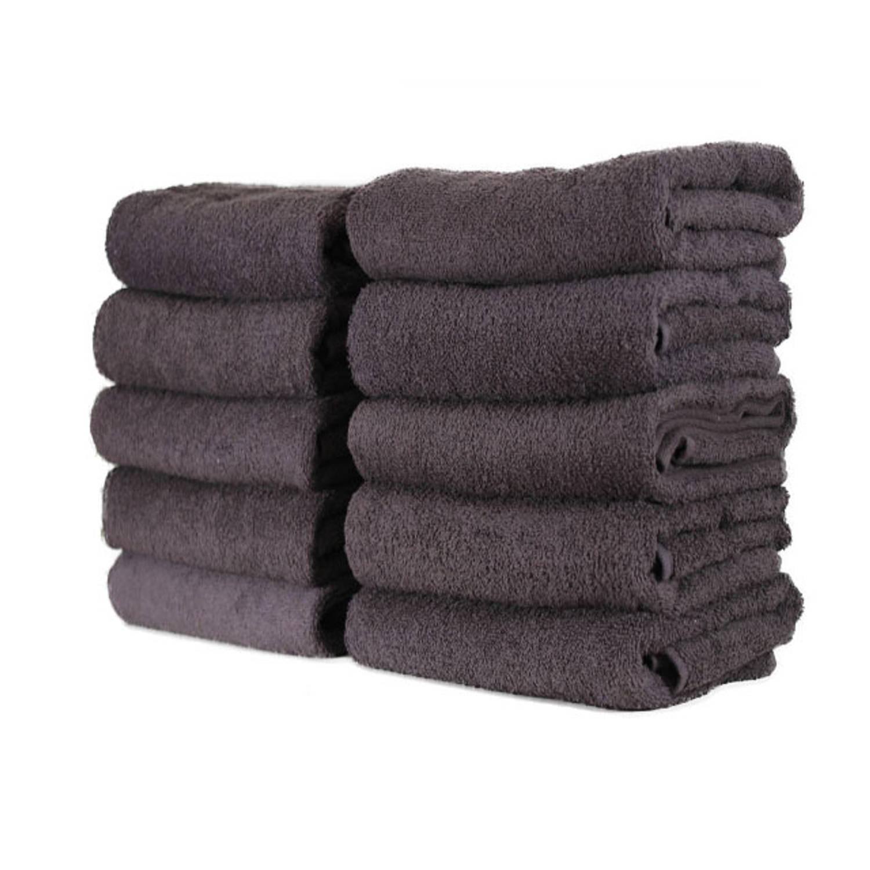 Korting Hotel Handdoek Set Van 3 Stuks 50x100 Cm Antraciet