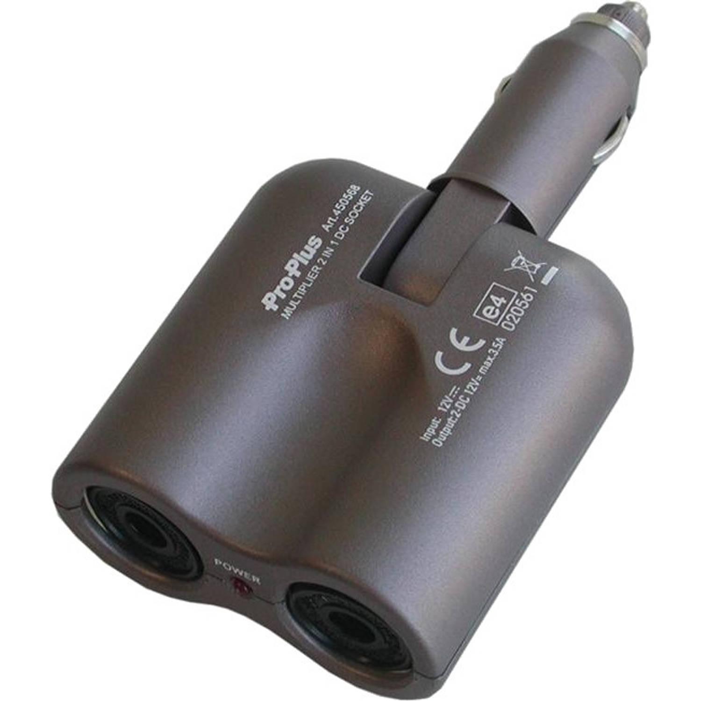 ProPlus 2-weg splitter 12 Volt 3,5 Ampère grijs
