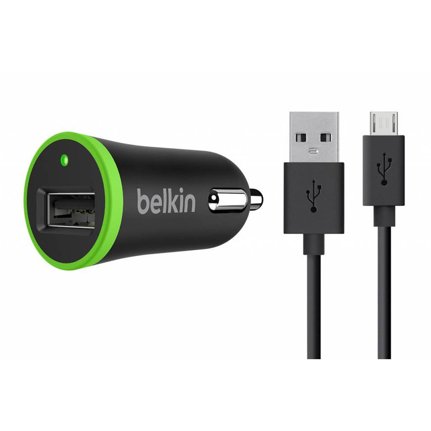 Boost↑Up Universal Car Charger 2,4A + Micro-USB naar USB-kabel